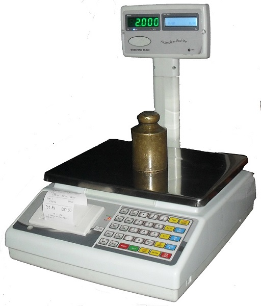 counting and price cumputing with printer scale